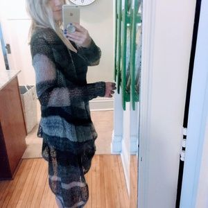 Lucky Brand Sweaters - Lucky Brand black and gray chevron long sweater